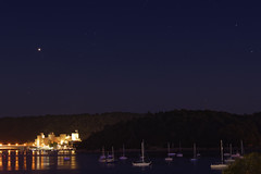 Mars over Conwy Castle (Myrialejean) Tags: mars conwy wales stars