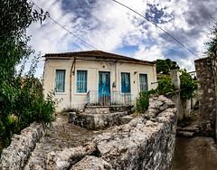 Tselendata Keflaonia Greece 10.5mm Fisheye (IanEdwards_uk) Tags: kefalonia greece greek ruin building tselendata old shutters sky clouds