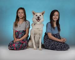 kids and dog aug 21 2018 (everettnewman1971) Tags: canon 6d mark ii sigma 50mm 14 art husky dog home studio flash