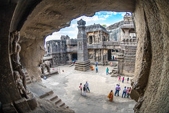 DSC_6253 (Ranjith_july) Tags: architecture archaeology paintings carvings india fisheye traveller wanderlust maharashtra aurangabad sky lowlight structure caves ellora ancient history buildings