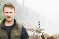 Smokey Swim (JeffAmantea) Tags: smokey swim water slocan lake kootenay kootenaylife kootenays bc british columbia canada outdoor outside people nature rocks landscape portrait sonyalpha sony alpha a7ii emount mirrorless metabones nikon nikkor 100mm f28