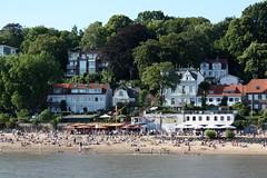 "Hamburg: Beachklub ""Strandperle"" am Elbstrand Oevelgönne (Helgoland01) Tags: hamburg elbe river fluss deutschland germany beach strand"