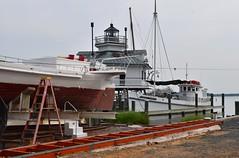 Edna on the Rail (Chesapeake Bay Maritime Museum Photos) Tags: edna lockwood hooper strait lighthouse cbmm chesapeakebaymaritimemuseum stmichaelsmd