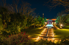 It's never too late to go to the pool. (catrall) Tags: mexico yucatan hacienda haciendatemozon temozon hotel luxury accommodation night dusk garden palm palmtree palmtrees pool swim nikon fx sigma sigmalens 24105 d750 march 2018