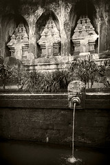 Pura Guning Kawi (Triple_B_Photography) Tags: canon contrast eos 7d 2017 bali blackwhite sepia indonesia pura water candi travel tourism peaceful religion faith