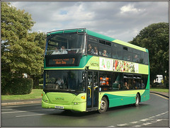 1152, Yarmouth (Jason 87030) Tags: iow island isleofwight green southern vectis doubledecker 1152 hw09baa sheep weather rain puddles downpour yarmouth seven 7 alumbay service route scania roadside spot shot shoot buses publictransport 2018 holiday visit break