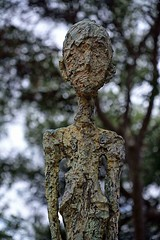Bronze Sculpture by Alberto Giacometti (Eric@focus) Tags: giacometti sculpture bronze man closeup bokeh famous expensive impressive dramatic inexplore france fondationmaeght swissartist passionphotography