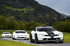 Mercedes line-up (Mysea!) Tags: mercedes sls black series tuning hamann volcano slr mclaren switzerland andermatt soc supercarownerscircle combo benz