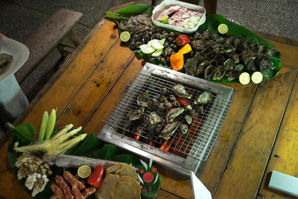 最奢華的中秋烤肉組 海鮮大集合之 龍膽石斑、泰國蝦、蚵、大卷 |小農聯盟12