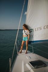 (noemi.m) Tags: nature outdoor sailing sailboat lake waterscape water balaton hungary summer summervibes holiday fun girl portrait curlyhair