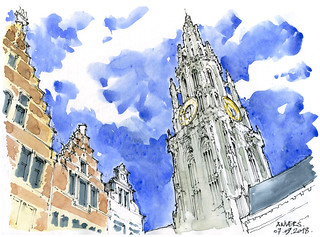 Anvers, la tour de Notre-Dame