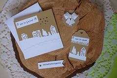 Biglietto regalo Natale (CartaForbiciGatto) Tags: biglietto regalo natale tag card christmas birthday compleanno box bag paper sacchettino snow winterland rose flower fiore di carta