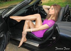 Porsche Purple (jessicajane9) Tags: pantyhose cd tranny crossdresser tgirl crossdressing tv tights xdress transvestite feminization pose tg crossdress feminised tgurl nylons transgender m2f trans