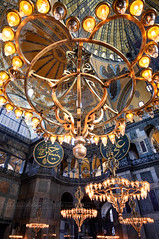 _MG_5232 - An Ottoman-style chandelier in Hagia Sophia Cathedral (AlexDROP) Tags: 2018 turkey europe istanbul art travel chandelier architecture color interior church cathedral mosaic canon6d ef16354lis wideangle best iconic famous mustsee picturesque postcard