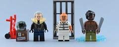 Marvel minifigs #5 2018 Villains👿 (Alex THELEGOFAN) Tags: lego legography minifigure minifigures minifig minifigurine minifigs minifigurines movie marvel super villain villains heroes jail water helmet vulture scorpion killmonger gray