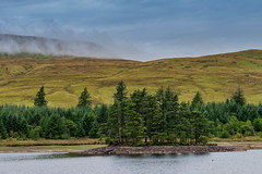 Isle of Trees (nafenic) Tags: nikon d5300 dslr kitlens 1855mm brecon breconbeacons southwales lakes reservoir lightroom trees clouds mist