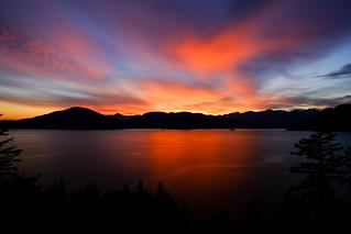 Killer sunset -- Howe Sound