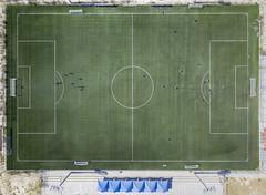 Game Plan (FX-1988) Tags: drone dji mavic mavicpro pro aerial photography aerialphotography football soccer ball architecture high air grass green field sport