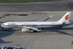 Air China Airbus 330-343E B-5977 (c/n 1658) 50th Airbus 330-sticker. (Manfred Saitz) Tags: vienna airport schwechat vie loww flughafen wien air china airbus 330300 333 a333 b5977 breg