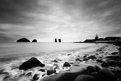 Mosteiros beach (laurent.brouty) Tags: bw eau paysage mer seascape a6000 samyang 12mm longexposure leefilter beach azores portugal