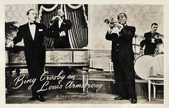 Bing Crosby and Louis Armstrong in High Society (1956) (Truus, Bob & Jan too!) Tags: louisarmstrong louis armstrong american musician singer trumpeter actor jazz bingcrosby bing crosby film cinema cine kino picture screen movie movies filmster star vintage postcard carte postale cartolina tarjet postal postkarte postkaart briefkarte briefkaart ansichtskarte ansichtkaart trumpet black highsociety 1956 takken mgm