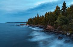 Twilight on Minnesota's North Shore (Tony Webster) Tags: cascaderiverstatepark greatlakes lakesuperior minnesota northshore dawn lake lakeshore longexposure morning night twilight waves