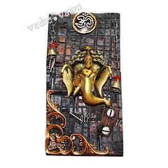 OM Ganesha |  Vedic Vaani™ (vedicvaani.com) Tags: ganesh ganesha ganpati moreshwar om mantra lord brahma vishnu mahesh brahman swargaloka bhuloka pooja puja devanagari ideal wall hanging gift vedic vaani voice vedas deity god sculpture home decor statue idols idol elephant head deva vinayak vinayakay vighaneshwar deities