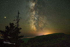 Leveaux Mountain Starlight (Images by Beaulin) Tags: tofte landscape milkyway astrophotography onionrivervalley northshore starrynight obergmountainoverlook nightsky superiornationalforest starscape stars starrysky starphotography leveauxmountain nightscape cookcounty places minnesota