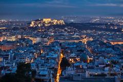 Athens – Night fall (Thomas Mülchi) Tags: mountlycabettus athens attica greece 2017 atticaregion gr nightfall earlynight landscape cityscape acropolisofathens acropolis