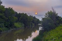 Misty Sunset (Mike Degteariov) Tags: summer sunset river forest mist canada sky fog rural misty area dusk