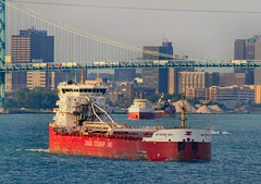 CSL Parade - now the two downbounders under the Ambassador Bridge (knutsonrick) Tags: