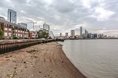 Thames at low tide I (PhredKH) Tags: 2470mm architecture buildings canoneos5dmkiii canonphotography cityscape ef2470mmf4lisusm eastlondon fredkh isleofdogs london lowtide photosbyphredkh phredkh riverthames skyline splendid thames thamesriver cityoflondon clouds river riverbank scenicwater sky water