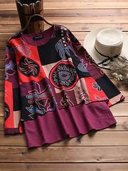Ethnic Printed Double Layered Blouses (1287181) #Banggood (SuperDeals.BG) Tags: superdeals banggood clothing apparel ethnic printed double layered blouses 1287181