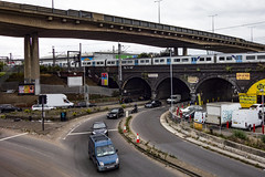 Staples Corner (London Less Travelled) Tags: uk unitedkingdom britain england london city urban junction road barnet traffic car rail railway train m1 a406 northcircular