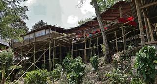 INDONESIEN, Sulawesi - Traditionelle Totenfeier der Toraja bei Makale, Zeremonienplatz,  17631/10642