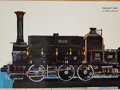 Steamtrain Behaim 1848 (DymphieH) Tags: postcards steamtrains offer2018