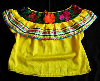 Maya Blouse Chiapas Mexico Abasolo Tzeltal