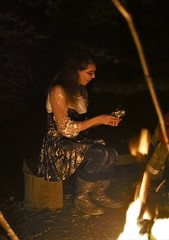 38th birthday party (Josie Räahna) Tags: josie crossdresser sparkly forest campfire musicians