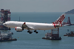 VH-XFC, A330-200, Virgin Australia, Hong Kong (ColinParker777) Tags: vhxfc airbus a332 a330 a330200 332 330200 330 airplane aeroplane aircraft airliner fly flying flight landing finals virgin australia va 1293 dj voz a330243 hkg vhhh hong kong chek lap kok airport international sea river delta pearly barge barges boat boats ship reclamation canon 5d 5d3 5dmk3 5dmkiii 5diii 200400 l lens zoom telephoto