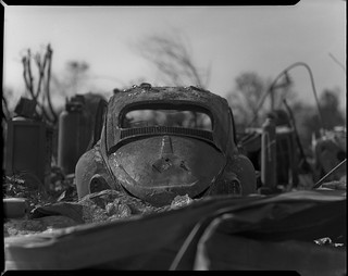 Carr fire aftermath on 4x5 film