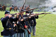 UNION TROOPS (MIKECNY) Tags: shoot musket rifle north civilwar infantry reenecatment wilton civilwarweekend grantcottage horse cavalry