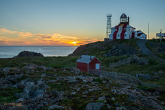 CAPE BONAVISTA SUNRISE (Wade.J.) Tags: bonavista lighthouse cape john cabot giovanni caboto sunrise early morning dawn cliff ocean atlantic north newfoundland blue sky
