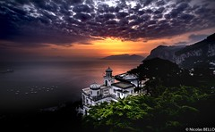 Sunset - Capri - Italie (NICOLAS BELLO) Tags: light sky ciel clouds paysage colors luminosity nature lumiere mer soleil italie night sun luminosite sony cloud landscape amazing sea coucherdesoleil sunset italia beautiful beaches beach marine coats capri elitegalleryaoi bestcapturesaoi