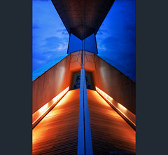Waiting for Your Launch . . . (Dichtung & Wahrheit (Poetry and Truth)) Tags: abstract architecture art blue hour heaven reflection