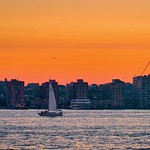 Flying/sailing by at sunset - Hoboken, New Jersey thumbnail