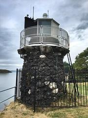 The Lighthouse at Oban. (Bennydorm) Tags: water sea stonework dunollie argyll clouds sky iphone6s cote costa kuste luglio julio juillet july europe uk gb britain lascozia escocia ecosse schottland scotland oban coast lighthouse