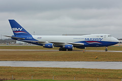 4K-SW008 Boeing B747-4R7(F) Silk Way Airlines Cargo Stansted 03rd February 2018 (michael_hibbins) Tags: 4ksw008 boeing b7474r7f silk way airlines cargo stansted 03rd february 2018 4k azerbijan europe european jets jumbo freight freighter jet aircraft aeroplane aviation aerospace airplane air airport airports civil commercial weather rain wet
