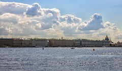 Neva Waterfront (AnyMotion) Tags: river fluss neva newa нева́ waterfront buildings gebäude architecture architektur sky himmer clouds wolken cityscape stadtlandschaft 2018 anymotion travel reisen saintpetersburg sanktpetersburg санктпетербу́рг russia russland 6d canoneos6d