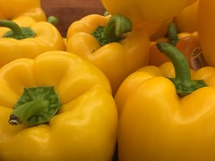 Yellow Bell Peppers (joncutrer) Tags: grocerystore vegetables food edible groceries produce royaltyfree cc0 cooking ingredients yellow peppers bellpepper