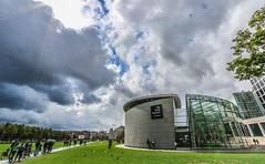 Van Gogh Museum (Michael Shoop) Tags: michaelshoop amsterdam thenetherlands canon holland noordholland vangoghmuseum clouds canon7dmarkii candidstreetphotography museum museumplein vincentvangogh